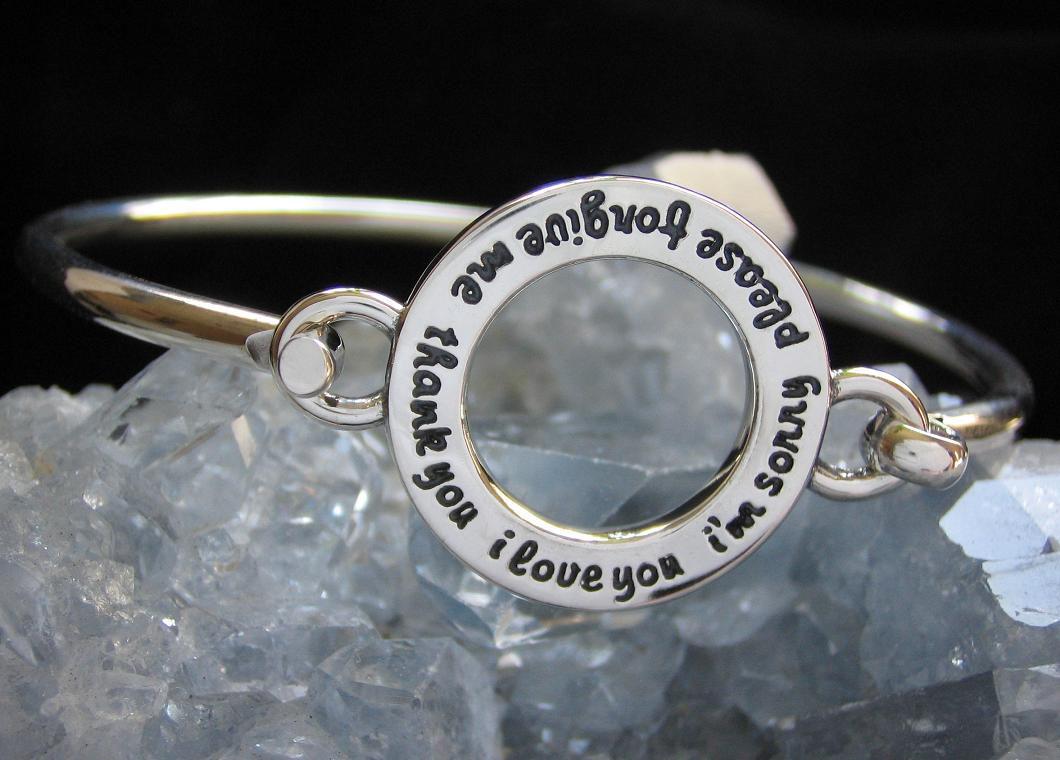 Sterling silver infinity bracelets